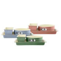 3 Bakeformer i pastellfarger