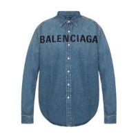 Blue denim shirt fra Balenciaga