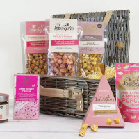Joe & Sephs Popcorn, bobler & sjokolade-gavekurv