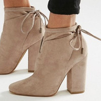 Kendall og Kylie Corset Tie Back Ankle Boot