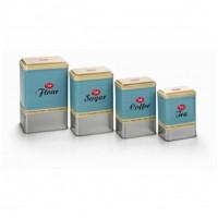 Oppbevaringsboks 4 pakk retro