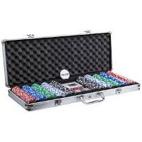 Pokersett med 500 sjetonger