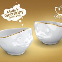 Tassen skåler med gullkant