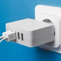 USB-lader med fire porter