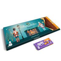 Giant Jul Milka-sjokolade med navn